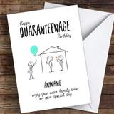 Happy Quarenteenage Birthday Coronavirus Quarantine Greetings Card