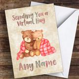 Teddys Cuddling Virtual Hug Coronavirus Quarantine Greetings Card