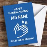 Happy Handwashing Birthday Coronavirus Quarantine Greetings Card