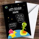 Funny Birthday Aliens Coronavirus Quarantine Greetings Card