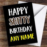 Happy Shtty Bday Coronavirus Quarantine Greetings Card