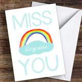 Miss You Rainbow Coronavirus Quarantine Greetings Card