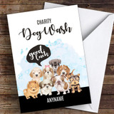 Charity Dog Wash Good Luck Personalised Good Luck Card