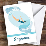 Diving Challenge Good Luck Personalised Good Luck Card