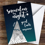 Snowdon By Night Good Luck Personalised Good Luck Card