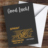 Sprint Triathlon Good Luck Personalised Good Luck Card