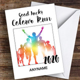 Colour Run 2020 Good Luck Personalised Good Luck Card