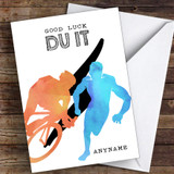 Duathlon Du It Good Luck Personalised Good Luck Card