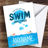 Swim Challenge Good Luck Personalised Good Luck Card
