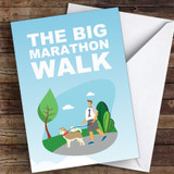 Marathon Walk Good Luck Personalised Good Luck Card