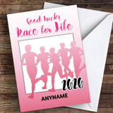 Race For Life Good Luck Personalised Good Luck Card