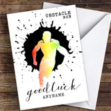 Obstacle Run Good Luck Personalised Good Luck Card