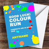 Colour Run Good Luck Personalised Good Luck Card