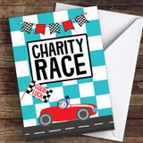 Racing Car Good Luck Personalised Good Luck Card