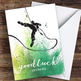 Abseiling Good Luck Personalised Good Luck Card