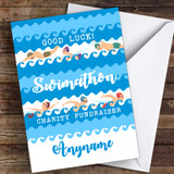 Swimathon Good Luck Personalised Good Luck Card