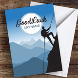 Climbing Challenge Personalised Good Luck Card