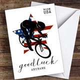 Ride USA Good Luck Personalised Good Luck Card