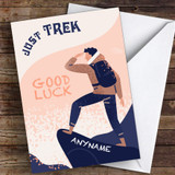Trekking Good Luck Personalised Good Luck Card