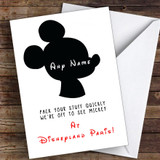 You're Going To Disneyland Paris Mickey Mouse Personalised Greetings Card