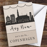 Surprise Let's Go To Copenhagen Personalised Greetings Card