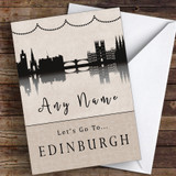 Surprise Let's Go To Edinburgh Personalised Greetings Card