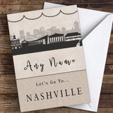 Surprise Let's Go To Nashville Personalised Greetings Card