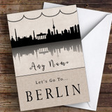 Surprise Let's Go To Berlin Personalised Greetings Card