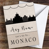 Surprise Let's Go To Monaco Personalised Greetings Card