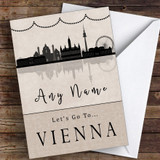 Surprise Let's Go To Vienna Personalised Greetings Card