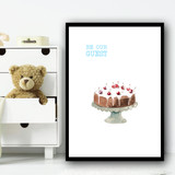 Be Our Guest Cake Children's Nursery Bedroom Wall Art Print