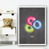 Eat Chalk Cake Children's Nursery Bedroom Wall Art Print