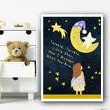 Twinkle Twinkle Little Star Nursery Rhyme Children's Nursery Bedroom Print