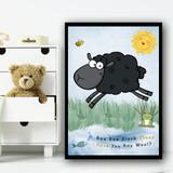 Baa Baa Black Sheep Nursery Rhyme Children's Nursery Bedroom Wall Art Print