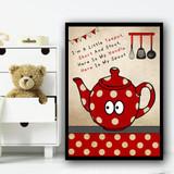 I'm A Little Teapot Nursery Rhyme Children's Nursery Bedroom Wall Art Print
