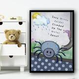 Incy Wincy Spider Nursery Rhyme Children's Nursery Bedroom Wall Art Print