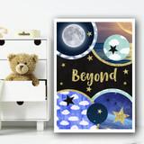 Universe Imagery Beyond Children's Nursery Bedroom Wall Art Print