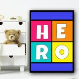 City Scape Hero Children's Nursery Bedroom Wall Art Print