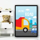 Transport Set 2 Children's Nursery Bedroom Wall Art Print
