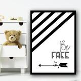 Be Free Adventure Children's Nursery Bedroom Wall Art Print