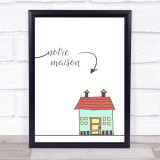Family Home French Style Framed Wall Art Print