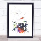 Galaxy Drums Framed Wall Art Print
