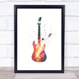 Galaxy Guitar Framed Wall Art Print