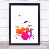 Rainbow Drums Framed Wall Art Print