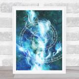 Space Watercolour Framed Wall Art Print
