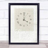 Time 3 Framed Wall Art Print