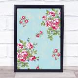 Vintage Roses Framed Wall Art Print