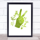 Vege As Fuck Green Style Quote Typogrophy Wall Art Print