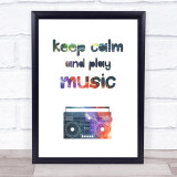 Galaxy Keep Calm Quote Typogrophy Wall Art Print