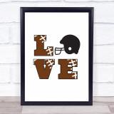 Love Baseball Quote Typogrophy Wall Art Print